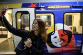 Поезд «Сердце России» курсирует лондонским метро
